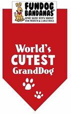 World's Cutest GrandDog Fun Dog Bandana Your Choice Colors -SALE BENEFITS RESCUE