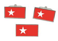 Maastricht (Netherlands) Flag Cufflink and Tie Pin Set