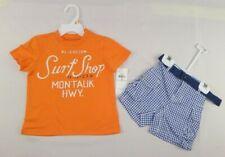 RALPH LAUREN BABY BOYS SET COTTON TEE & SHORT SET SIZES 6,9,12 MONTHS