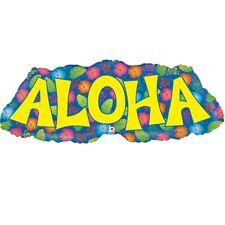 Aloha Hula Hawaiian Lei Luau Foil Helium Balloon | Party | Celebration BBQ Tiki