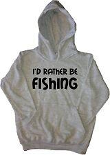 I'd Rather Be Fishing Kids Hoodie Sweatshirt