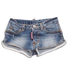 8034T short bimba DSQUARED2 cotone blu denim pantalone short kid