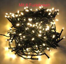LED Lichterkette 40 bis 720 LEDs warmweiß innen außen +8 Leuchtfunktion Adapter