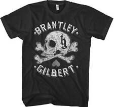 BRANTLEY GILBERT - Skull - T SHIRT S-M-L-XL-2XL Brand New Official T Shirt