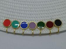 Ohrclips vergoldet mit Emaille-Münze 12mm -viele Farben-
