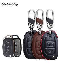 Car Flip Key Shell Cover for HYUNDAI ix45 Santa Fe Remote Key Case Fob 3 Buttons
