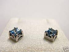 Orecchini argento 8 Cubic Zirconia topazio princess