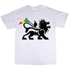 Rasta rastafariana LEON T-shirt 100% COTONE Umanamente uomo rastafarianesimo