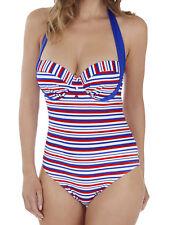 Lepel LE168682 Swimwear Sailor Halterneck Swimsuit in Blue, Red, White