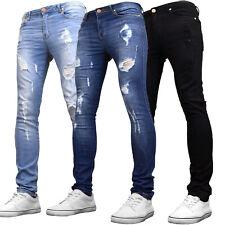 Regular Fit Pantaloncini Di Jeans Da Uomo DML Strappato ANGOSCIA Designer Moda