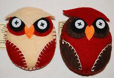 New Fair Trade Felt Owl Magnet - Hippy Ethnic Boho