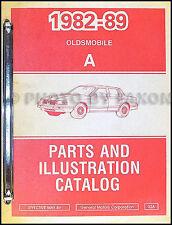 1988-1989 Oldsmobile Cutlass Ciera Parts Book Original OEM Illustrated Catalog