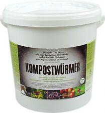 KOMPOSTWÜRMER - Kompost-Starter Regenwürmer - Eisenia Kompostwurm lebend aktiv -