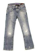 Pantalone lungo Jeans da bambino blu denim Datch casual junior moda tasche zip