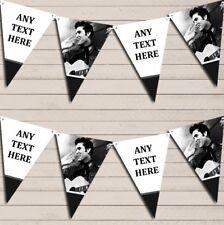 Elvis Presley White & Black Birthday Bunting Garland Party Banner