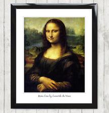 Framed Art Print Mona Lisa by Leonardo da Vinci Renaissance Italian Poster 158