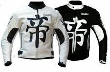 Blouson veste en cuir de pour moto avec protections approuvées CE custom
