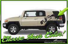 Toyota FJ-Cruiser Mud Splash Graphic Stripes Decal 2007-2015 Style 9