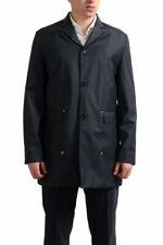 Dior Men's Gray 100% Virgin Wool Button Down Trench Coat US S M
