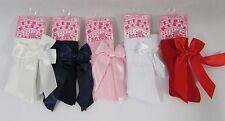 Baby Babies Infants Girls Socks Bow White Pink Red Navy Cream Knee High NB - 18