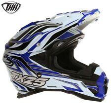 Thh TX25 Brillo Blanco Azul MX Enduro Offroad Motocicleta Moto Casco Blade