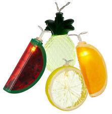 LED 10er Lichterkette Melone Ananas Zitrone Orange Batteriebetrieb Obst