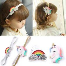 Cute Rainbow Hairpin Baby Unicorn Headband Glittering Flaky Clouds Headwear