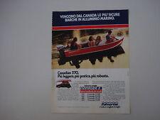 advertising Pubblicità 1981 ITALMARINE CANADIAN 370