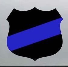 "Thin Blue Line Police Fallen Officer Badge Shield Vinyl Sticker Decal 3"""