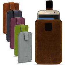Leder Tasche für Samsung Smartphone Handy Hülle Cover Pull Tab Lederhülle Nauc