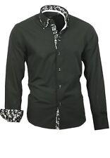 Hemd Herrenhemd Shirt Doppelkragen Binder de Luxe Langarm 81714 schwarz