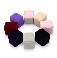 Engagement Velvet Ring Box Jewelry Display Storage Wedding Ring Gift Organizer