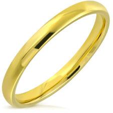 BAGUE ANNEAU ALLIANCE MARIAGE POUR HOMME FEMME ADO DORE NEUVE PLAQUE OR 3mm