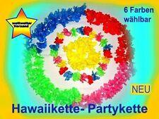 Hawaiikette-Blumenkette -Partykette - Faschingskette  NEU aus 6 Farben wählbar