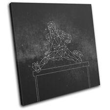 Geometric Abstract Track Field Sports SINGLE TOILE murale ART Photo Print