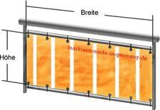 Balkonbespannung aus Markisenstoff 80 cm hoch Markisen Sichtschutz fertig genäht
