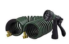 Instapark Heavy-duty EVA Recoil Garden Hose with 7-Pattern Spray