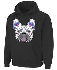 French Bulldog Sugar Skull Hooded Sweatshirt Hoodie