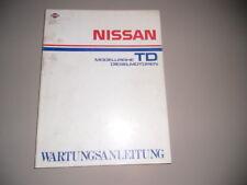 Werkstatthandbuch Nissan Turbo Diesel Motor TD 01/1987