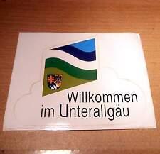 WAPPEN/FLAGGEN AUTO Aufkleber Sticker von UNTERALLGÄU Original SCHRIFTZUG