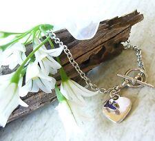 Bluebird Blue Bird Heart Toggle Bracelet 1st Communion Confirmation Birthday