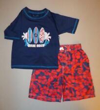 iXtreme™ Little Boys' 4, 5 Wave Rider 2 Pc. Swim Shorts & Rashguard Set *NWT*