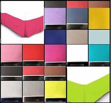 Base Valance Sheets High Quality Plain Dyed Box Pleated Platform All Sizes New