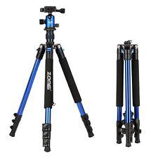 ZOMEI Portable Professional Aluminium Tripod&Ball Head for DSLR Camera Q555 Blue