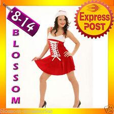 7107 Santa Claus Christmas Helper Fancy Dress Costume Xmas Party Outfit & Hat