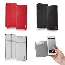Universal Slim Bookstyle Tasche Hülle Case Cover Kartenfach Foto 4.3 - 5.7 Zoll