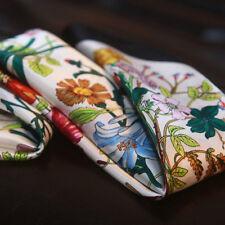 "100% Silk Scarf Women's Handkerchief Flower Print Square Neck Bandana 21""*21"""