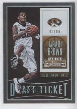 2015 Panini Contenders Draft Picks Ticket #40 Jabari Brown Missouri Tigers Card