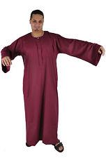 wunderschöner Herren-Kaftan Hauskleid im Falahi-Stil in Farbe weinrot - KAM00660