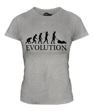 LAWN MOWER EVOLUTION LADIES T-SHIRT TEE TOP GIFT LANDSCAPE GARDENER